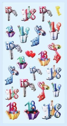 Creapop Sticker Softysticker * 18. Geburtstag - Volljährig - Volljährigkeit * Aufkleber 3451226