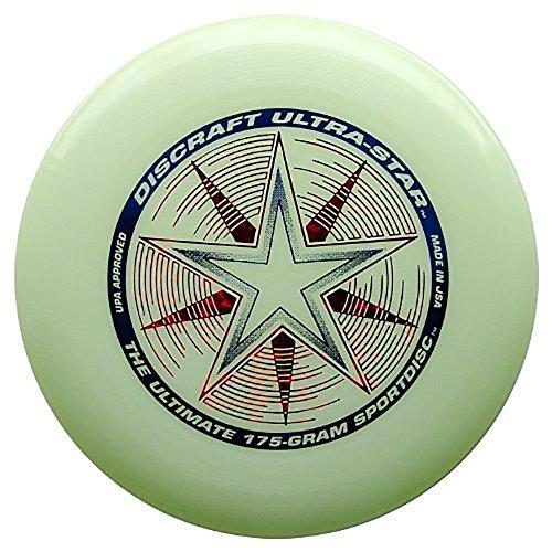 Discraft Ultrastra, Ultra-Star 175g, Ultimate Frisbee, NIGHTGLOW Phosphor