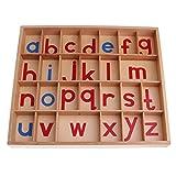 Baoblaze Puzzle de Madera Alfabeto, Montessori Alfabeto Movible de Madera a-z con Caja Juguetes de Aprendizaje Temprano Juguete Educativo para Niños
