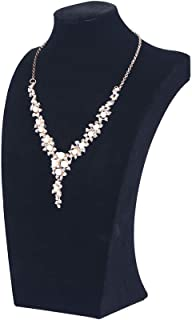 "Coward 13.4"" Black Velvet Necklace Stand Jewelry Organizer Pendant Chain Bust Display Holder(13.4)"