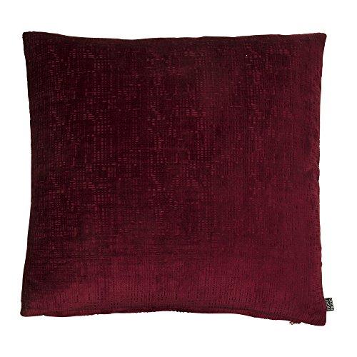 Eighmood Kissen, Velours, 50 x 50 cm, Burgunderrot