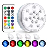 Chakev Submersible Led Pool Lights, 16 Colors Underwater Pond Lights with...