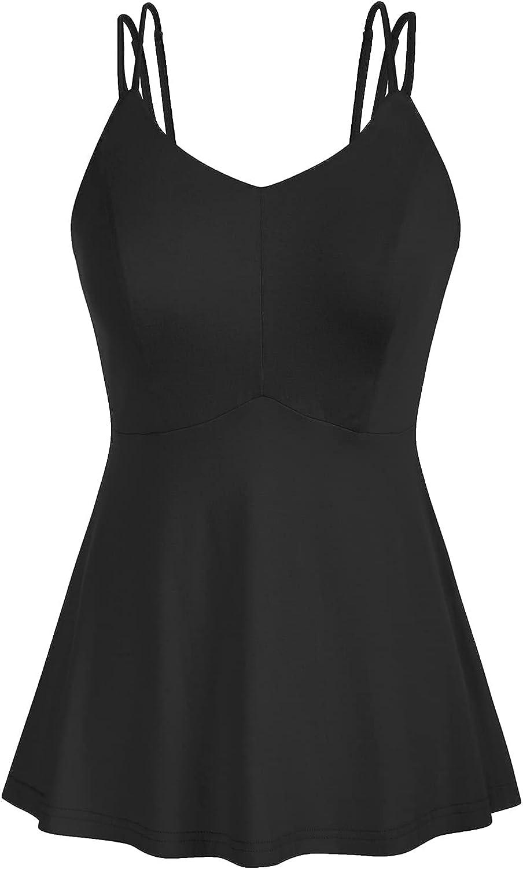 GRACE KARIN Women's Casual Short Sleeve Peplum Top V-Neck Blouse Shirt