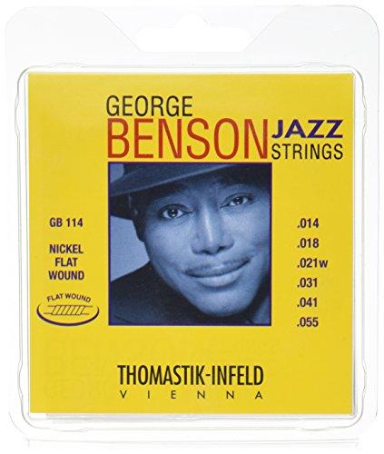 Thomastik Cuerdas para Guitarra Eléctrica George Benson Jazz Guitar juego GB114 Heavy...