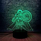 Solo 1 pieza Doctor Wonder 3D LED Night Light Illusion Atmosphere Movie Cool Table Sleep Lamp Gift