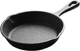 LYQZ Poêle à frire en fonte de 20 cm, poêle à omelette ronde pour le petit déjeuner, ustensiles de cuisine pour intérieur ...