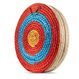 KAINOKAI Traditional Hand-made Archery Target with Arrow Puller,Arrows Target for Recurve Bow Longbow or Compound Bow (A Traditional Target DIA Φ:19.7in / 5 layers)