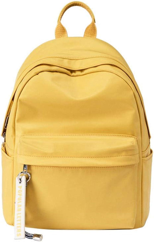 KUQIQI Rucksack-Frau, beilufiger einfacher Nylonrucksack, Studenten-Retro- Richtung-Beutel-Highschool, Vier Farben wahlweise freigestellt Praktische Schultasche