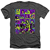 Transformers Transformer Squares Unisex Adult Heather T Shirt for Men and Women, Medium Charcoal