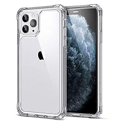 "ESR Air Armor Designed for iPhone 11 Pro Case, [Shock-Absorbing] [Scratch-Resistant] [Military Grade Protection] Hard PC + Flexible TPU Frame, for The iPhone 5.8""(2019), Clear"