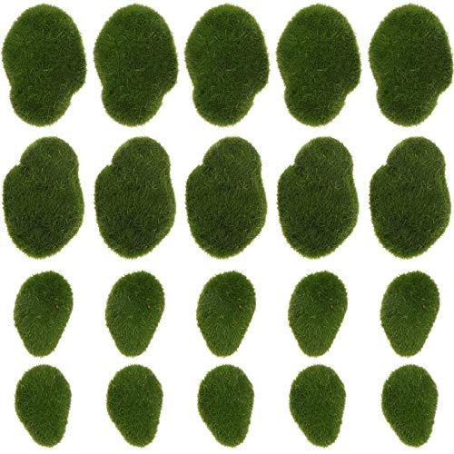 Cabilock 20 Pz Palline Marimo Muschio Artificiale Rocce Pietra Alghe Verdi Acquario Pianta Acquatica per Giardino Acquario Pesce Gamberetti Decorazion