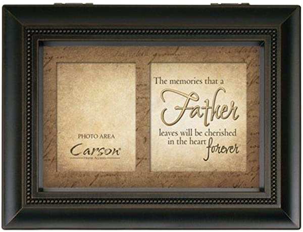 Carson Home Accents 17946 Father Memories Bereavement Music Box 8 Inch By 6 Inch By 2 3 4 Inch