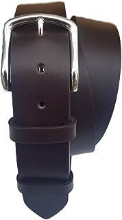 ESPERANTO Cintura lunga vero cuoio uomo taglie forti in pelle di Toro-altezza 4 cm nera,marrone,moro spessore 4 mm