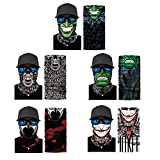 Windproof Seamless Skull Face Scarf Bandana, Breathable UV Face Mask Headbands for Women Men Riding Yoga Fishing Breathable, Running, Ski Outdoor Headwear, 5 Pcs