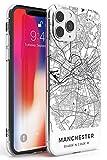 Case Warehouse Mapa de Manchester, Inglaterra Slim Funda para iPhone 11 Pro TPU Protector Ligero Phone Protectora con Viaje Pasión De Viajar Europa Ciudad Calles