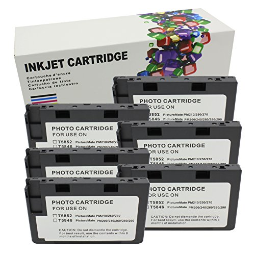 Hi Ink 6 Packs T5846 for use of PictureMate Dash - PM 260, PictureMate Flash - PM 280, PictureMate Pal - PM 200,PictureMate Snap - PM 240, PictureMate Zoom - PM 290