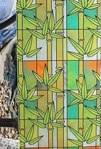 LMKJ Película de Ventana de Vidrio de PVC privacidad Mate casa Dormitorio baño teñido película de bambú para el hogar B103 30x100cm