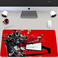 アニメマウスパッド ペルソナ5 大型マウスパッド ゲーミング キーボードパッド アニメ マウスパッド 疲労軽減滑り止めラバー 超大型 防水 マウスパッド800*300*3MM/900*400*3MM-A_900*400*3mm
