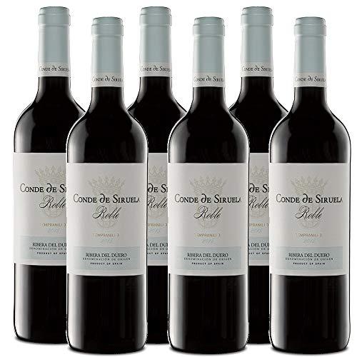 6 botellas vino tinto roble Ribera del Duero. Conde de Siruela Roble