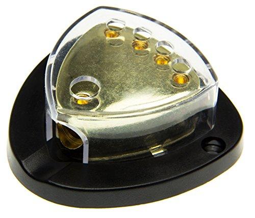 Adapter-Universe® Bloc de distribution avec câble pour voiture, 12 V, amplificateur 1 x 25 mm² / 4 x 16 mm², 1 à 4