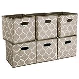 HSDT Caja de almacenamiento, 33x33x33cm, tela PET gris, plegable, con 2 asas de...