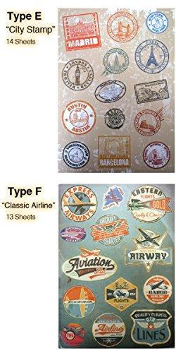 """『トリップ&リゾート ステッカー/PVC 防水 (Type F""""Classic Airline"""") [並行輸入品]』のトップ画像"""