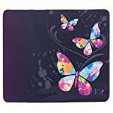iColor Colorful Butterfly Anti-Slip Mouse Pad Mice Pad Mat Mousepad For Office, Computer, Laptop & Mac Optical Laser Mouse- Durable & Comfortable & Lightweight For Easy Typing & Pain Relief MP-017