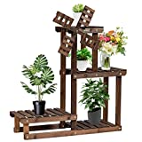 <span class='highlight'><span class='highlight'>CASART</span></span>. Wooden Plant Stand, 4-Tiers Windmill Pots Holder Storage Display Shelf, Outdoor Indoor Ladder Flower Rack for Home Garden Balcony Patio Decoration