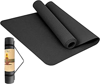 StillCool Gymnastiekmat, ftalaatvrij, antislip, hoogwaardige trainingsmat, pilatesmat en fitnessmat met draagriem, ideaal ...