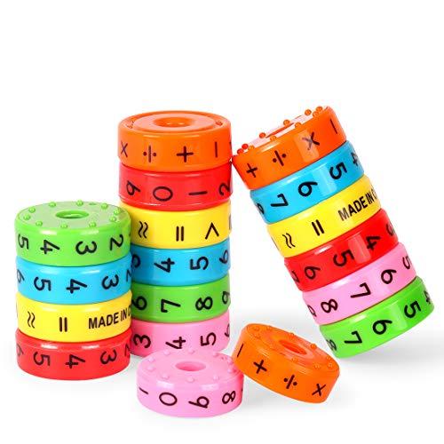 Zaloife Juguete de Aprendizaje Aritmético Magnético, Magnéticos Juegos de Matemáticas, Regalo Educativo de Los Juguetes de Las Matemáticas, Juegos de Números, para Los Niños del Bebé, 3pcs