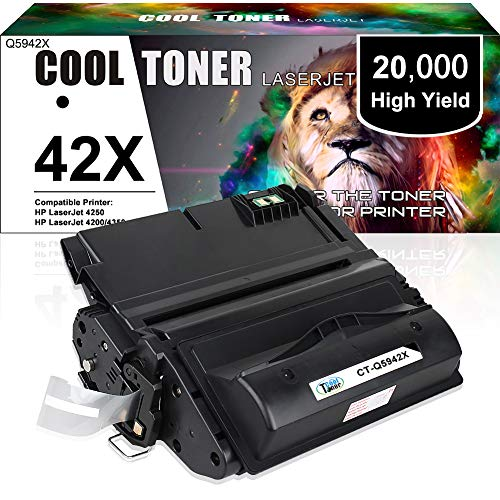 Price comparison product image Cool Toner Compatible Toner Cartridge Replacement for HP 42X Q5942X Q1338A Q5942 for HP LaserJet 4250TN 4250N 4250DTN 4350N 4350TN 4350DTN Printer-1PK
