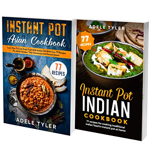 Indian Slow Cooker Cookbook: 2 Books In 1: 77 (x2) Easy Recipes For Tasty Spicy Asian Food (English Edition)