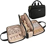 Large Toiletry Bag, Bagsmart Travel Makeup Organizer Water-resistant Makeup Cosmetic Bag Travel Bag for Accessories, Shampoo, Full Sized Container, Toiletries