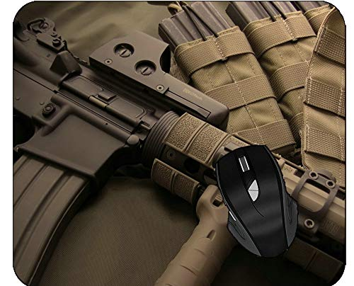 Nonslip Wrist Support-Lightweight Mousepad Ammo Eotech Holographic Sight Gun Mouse Mat for Computers
