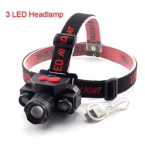 XINGYAO Stirnlampe LED-Scheinwerfer USB Wiederaufladbarer Scheinwerfer Frontal Taschenlampe Stirnlampe Nachtlampe Angeln Laterne Scheinwerfer
