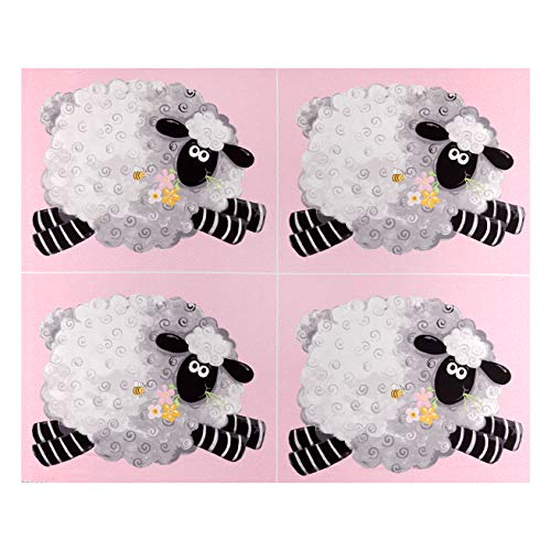 6301 West Marginal Way SW Susybee Lal the Lamb Fat Quarter Schaf, 91,4 cm, Stoffbahn, Rosa