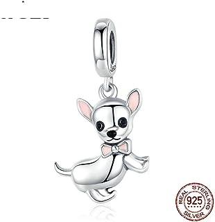 Toporchid Hippie Boho Chihuahua Chien Animal Piercing Stud Boucle doreille Partie Cadeau Pet Lovers Cadeau Filles Argent