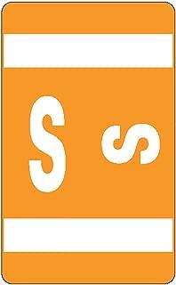 Smead AlphaZ ACCS Color-Coded Alphabetic Labels, Letter S, Orange, 100 Labels per Pack (67189)