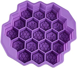 Fan-Ling Bee Honeycomb Cake Mold,Soap Mold, Silicone Flexible Chocolate Mold,Ice Cube Tray Mould. Oven Microwave Oven Dishwasher Refrigerator Safe (purple)