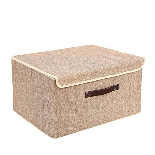 Modelo Lirio 50 x 40 x 25 cm Kanguru Caja de Almacenamiento en cart/òn Lavatelli Grande Beige//Marron 50x40x25cm