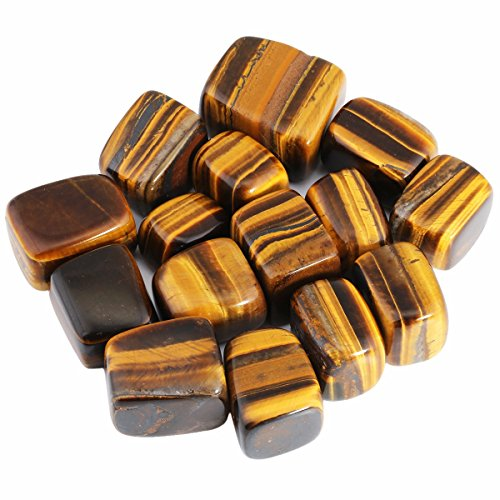 rockcloud 1 lb Tumbled Polished Stones Gemstone Supplies for Wicca,Reiki,Healing Crystal,Tiger's Eye