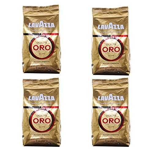 Lavazza Kaffee Qualita Oro, ganze Bohnen, Bohnenkaffee, 4er Pack, 4 x 1000g
