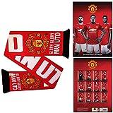 MUFC Manchester United - Calendario y bufanda de fútbol oficial del Manchester United 2021