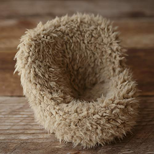 POSING POD COVER ONLY - FURRY SAND - MINI SIZE NEWBORN PHOTOGRAPHY RPOP