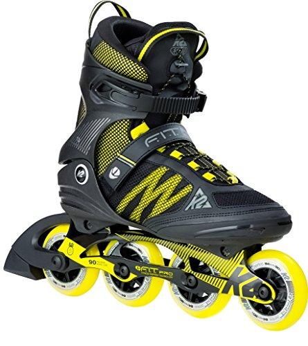 K2 Herren Inline Skates F.I.T. Pro 84 - Schwarz-Gelb - EU: 45 (US: 11.5 - UK: 10.5) - 30B0013.1.1.115