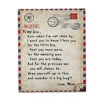 息子/娘 フランネル毛布 大 文字を印刷しました 毛布を投げます あなたが私と一緒ではない毎日私はあなたのことを思います、 肯定的な励まし/愛 クリスマスの誕生日ギフト,B,120*150cm