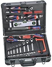 KWB 370780 alet çantası (iddialı ev kullanımı için ideal, sağlam alüminyum çantada)