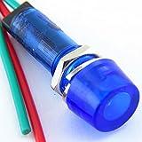 Yuco YC-9WRT-1B-120-10 LED Indicator Miniature Pilot Light 120V AC or DC, Blue, 9mm, 10 Piece