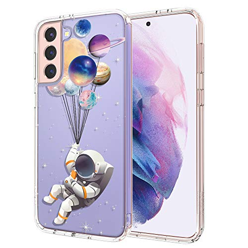 MOSNOVO Cover Galaxy S21 5G, Astronauta Pianeta Trasparente con Disegni TPU Bumper con Protettiva Custodia per Samsung Galaxy S21 5G (Astronaut Planet)