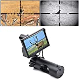 RHYTHMARTS Digital Night Vision Monoculars Scope for Rifle Gun Scopes Hunting with Camera and 5' Display Screen